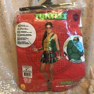 NWT RAPHAEL NINJA TURTLES HALLOWEEN COSTUME!!